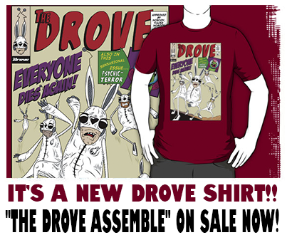The Drove assemble Redbubble ad